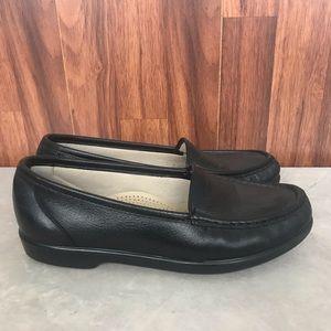 SAS Tripad Comfort Shoes Black Leather Slip On